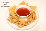 Our crispy fried rangoons with a sweet dipping sauce, prepared and cooked to order